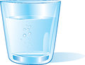 Glass of water vector illustration Stock Images