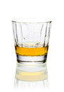 Glass of whiskey or brandy Royalty Free Stock Image