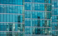 Glass windows of a commercial building Royalty Free Stock Photo