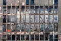 Glass windows on an industrial building Royalty Free Stock Photo