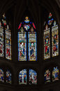 Glass Windows Saint Severin Church Paris Royalty Free Stock Photo