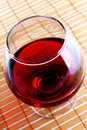 Glass of wine angle shot Royalty Free Stock Images
