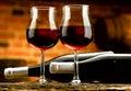 Glass of wine enjoy a good Royalty Free Stock Photo