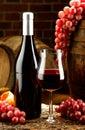 Glass of wine enjoy a good Royalty Free Stock Photos
