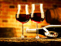 Glass of wine enjoy a good Royalty Free Stock Images
