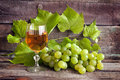 Glass of wine and grapes Stock Photography