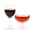 Glass of wine isolated on white background Royalty Free Stock Images