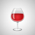 Glass of wine wineglass with red vector illustration Stock Images