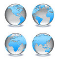 Glass worlds Crystal globes Royalty Free Stock Image