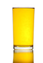 Glass of yellow water isolated. Royalty Free Stock Image