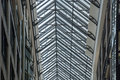 Glassed roof on modern building Royalty Free Stock Photo