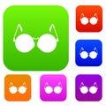 Glasses for blind set collection