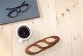 Glasses ,book,coffee And Bread...