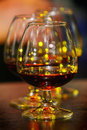 Glasses of brandy Royalty Free Stock Image