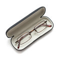 Glasses in a case on white Royalty Free Stock Photo