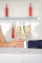 Glasses with champagne two of at wedding party Royalty Free Stock Photography