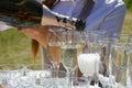 Glasses Of Champaigne And A Bo...
