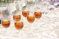 Glasses with Cognac Stock Photos