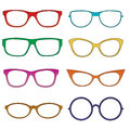 Glasses colorful - vector
