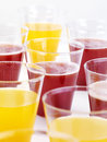 Glasses of fresh juice Stock Images