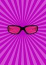 Glasses illustration Royaltyfri Fotografi