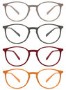 Glasses isolated on white, red, orange, grey, color Royalty Free Stock Photo
