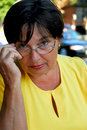 Glasses mature woman Στοκ Εικόνες