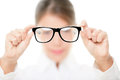 Glasses - optician showing eyewear Royalty Free Stock Photo