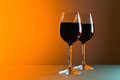 Glasses with red wine Royalty Free Stock Photography