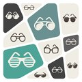 Glasses and sunglasses icon set Royalty Free Stock Photo