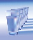 Glasses of water Royalty Free Stock Image
