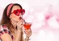 Glasses wearing woman young Стоковая Фотография RF