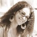 Glasses woman 免版税库存照片