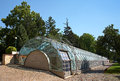 Glasshouse in garden of prague castle Royalty Free Stock Photo