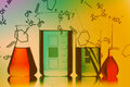 Glassware chemical in the laboratory Stock Image