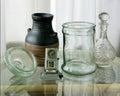 Glassware, pitcher and calenda