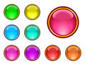 Glassy buttons Stock Photography