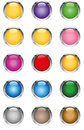 Glassy buttons vector illustration of the Royalty Free Stock Images