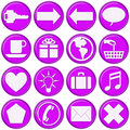Glassy Purple Website Buttons Royalty Free Stock Photo
