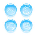 Glassy support icons set of vector illustration Stock Image
