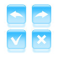 Glassy undo and redo icons set of vector illustration Royalty Free Stock Photo