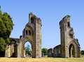 Glastonbury abbey the historic ruins of in somerset england united kingdom Stock Images