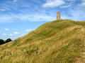 Glastonbury Felsen Stockbild