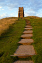 Glastonbury tor the historic in somerset england Stock Photography