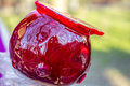 Glazed apple delicious red with melted sugar Royalty Free Stock Image