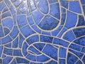 Glazed blue stone texture wall Royalty Free Stock Photography