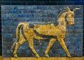 Glazed brick bull from the procession street, Babylon Royalty Free Stock Photo