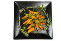 Glazed carrots is a delectable accompaniment to a meal Stock Photos
