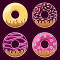 Glazed donuts set