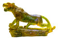 Glazed glass panther isolate on white background Stock Photography